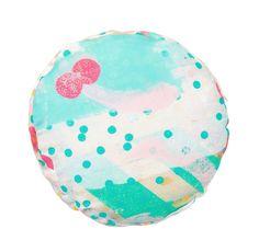 Amigo Round Cushion - Aqua/Pink SALE