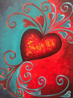 abstract heart painting ideas in 2018 pinterest painting art