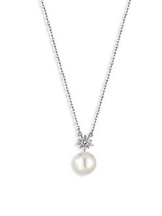 Majorica - North Star Crystal & Faux-Pearl Pendant Necklace