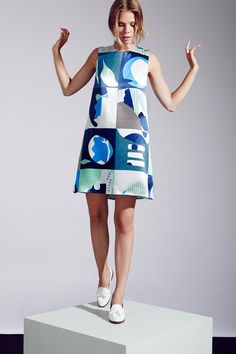 Blue abstract print. Piazza Sempione | Resort 2015 Collection | Style.com