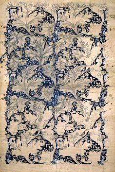 hideback: 1890William Morris (English, 1834-1896) ~Wallflowerwallpaper design
