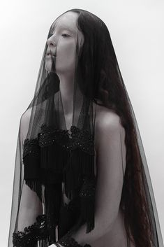 """☫ A Veiled Tale ☫ wedding, artistic and couture veil inspiration - """"MELUSINA"""" by Jay Briggs for Beautiful Savage"""