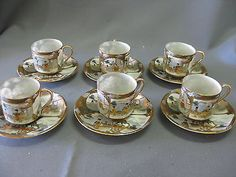 Six-Japanese-Eggshell-Cups-and-Saucers-Marked