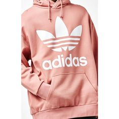 adidas Fashion Pink Oversized Pullover Hoodie (€75) ❤ liked on Polyvore featuring tops, hoodies, pink oversized hoodie, pullover hoodies, pink hoodies, sweatshirt hoodies and oversized hoodie