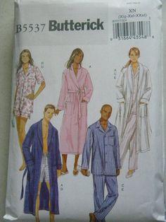 Butterick Pattern B5537 Unisex Robs and Pajamas XL-XXXL New FREE SHIP