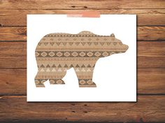 Animal Print  Bear Print  Aztec Print  Woodland by PrintableQuirks, $5.00