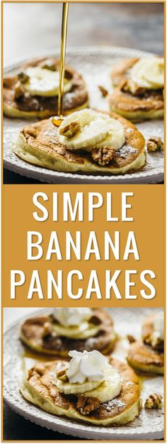 banana pancake recipe, fluffy pancake, buttermilk pancake, without buttermilk, for kids, simple, easy recipe, breakfast, brunch, valentine's day, romantic via /savory_tooth/