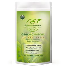 Looking for the Best Organic Matcha for your food recipes? SoFresh Matcha Organic Culinary Grade!