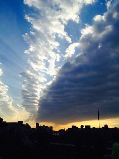 Amazing clouds over the NYC Highline - 23 Feb 2014