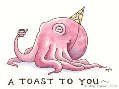 Birthday Octopus by MegLyman