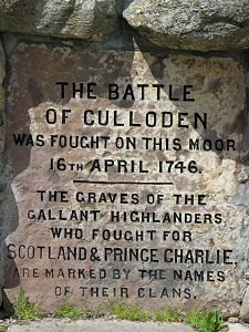 The Inscription - The Battle of Culloden I don't like war, but this relates to my Scottish Ancestry