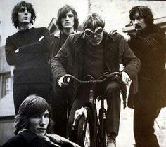Syd Barrett on his bike
