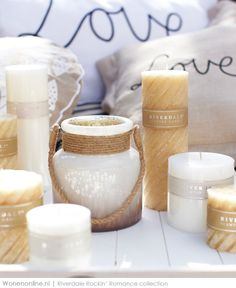 Riverdale Scented Candles, Pillar Candles, Candle Magic, Home And Living, Living Room, Candle Holders, Shabby Chic, Romance, Place Card Holders