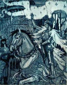 Joan of Arc from book cover of Heroines Every Child Should Know.