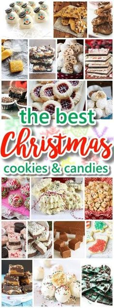 The BEST Christmas Cookies, Fudge, Candy, Barks and Brittles Recipes Favorites for Holiday Treats Gift Plates and Goodies Bags! Looking for some YUMMY recipes for your holiday cookie exchange party or Christmas gift plates for neighbors, teachers an Best Christmas Cookies, Christmas Snacks, Christmas Cooking, Holiday Cookies, Holiday Baking, Christmas Desserts, Holiday Treats, Holiday Recipes, Diy Christmas