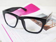 2012 Classic Retro nerdy Hipster Glasses Frame Black Unisex New | eBay