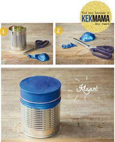 Leeg blikje? Check!, Fairtrade rubber ballon (http://bit.ly/JmpFhe)? Check!, Fairtrade rubber elastiekje? Check!.... Trommelen maarrrrr!