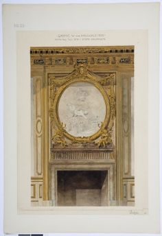 Drawing of the fire place in the great drawingroom of the Hallwyl museum Clock, Museum, Fire, Mirror, Antiques, Drawings, Wall, Home Decor, Watch