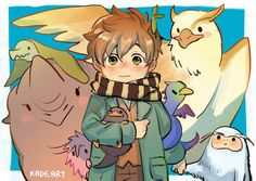 Incredible beasts and the place to seek out them Newt Scamander Fan Art, Fantastic Beasts Fanart, Chibi, Character Design, Character Art, Fantasic Beasts, Beast, Art, Anime