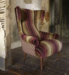 """Awesome chair in """"Linwood Fabrics.."""