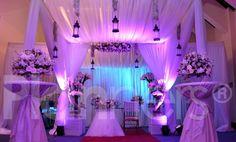 Un altar para una hermosa boda cristiana