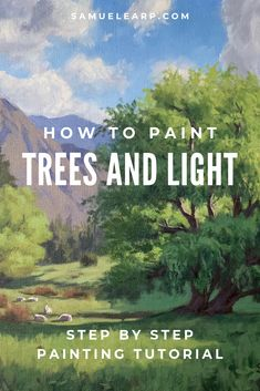 In this painting tutorial on how to paint trees and light I cover the ing: Colours Brushes Composition Blocking in the painting Adding detail Final details Watercolor Painting Techniques, Acrylic Painting Techniques, Painting & Drawing, Oil Painting Lessons, Painting Styles, Watercolor Artists, Painting Videos, Artist Painting, Art Techniques