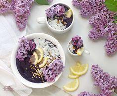 Blueberry Citrus Lilac Fairy Smoothie Bowls