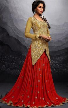 Glamorous Red Color Lehenga Choli