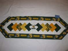 Green Bay Packers NFL Football Quilted Unique Table by RitaCreates, $30.00