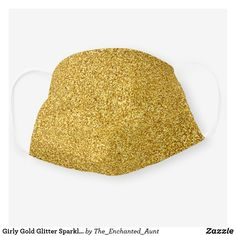 Shop Girly Gold Glitter Sparkle Chic Cloth Face Mask created by The_Enchanted_Aunt. Colour List, Niece And Nephew, Personalized T Shirts, Casual Elegance, Custom T, Clothing Patterns, Gold Glitter, Wearable Art, Unique Gifts