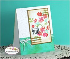 Stampin UP Painted Petals for Stamping and Blogging sketch #101