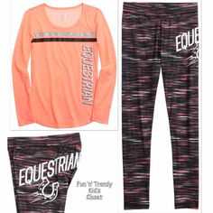 NWT Justice Girls Size 6 7 Equestrian Tunic Top & Leggings Activewear 2-PC SET #Justice #ActivewearEveryday