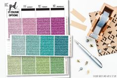 Glitter Header Stickers - Planner Stickers - H06 by PeacefulmindDesign on Etsy https://www.etsy.com/listing/487077138/glitter-header-stickers-planner-stickers