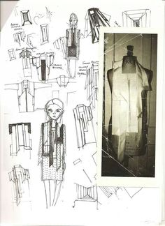 Fashion Sketchbook - fashion sketches; fashion design drawings & development // Cunnington & Sanderson