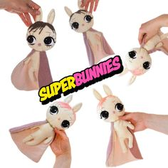 Superhero Bunnies - Baby Comfort Blankets by Dollcloud. These are the most cute baby soothers in the world!