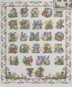 "Bin 2 pattern and threads, fabric is in cylinder: Janlynn ""Woodland Alphabet"""