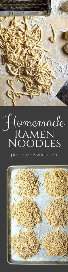 If you've wondered how to make homemade ramen noodles, you have to try this! Through trial and error, I've developed a reliable recipe that works every time. And the ramen noodles freeze beautifully, so make a big batch to have on hand for quick and easy meals! via @pinchandswirl