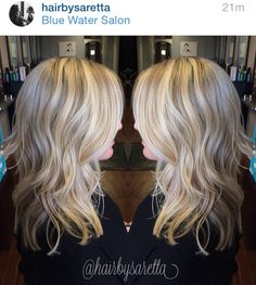 Hair by Saretta Naples FL  Layered platinum blonde full foil highlights