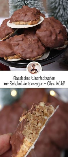 These Elisenlebkuchen are the ultimate Christmas biscuit. - These Elisenlebkuchen are the ultimate Christmas biscuit. They are without flour and no butter, but - Christmas Biscuits, Christmas Baking, Christmas Cookies, Candied Lemon Peel, Candied Lemons, Pasta Integral, Recipe Cover, Baked Donuts, Gingerbread Cookies