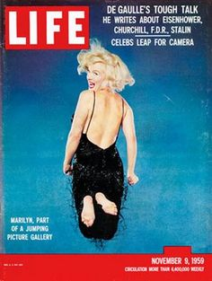 Marily Monroe Jumping in 1956!   On the cover of Life Magazine!  nice jump,marilyn!