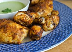 Peruvian chicken with green sauce. Tender and juicy Peruvian-style roast chicken with a spicy and addictive green sauce.