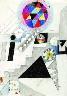 Johannes Itten (Swiss, I est la joie (I ist Freude) 1917 Crayon Johannes Itten, Bauhaus Art, Paint Designs, Art World, Design Art, Abstract Art, Kids Rugs, Drawings, Illustration