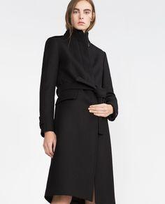 Image 2 of HIGH COLLAR COAT from Zara