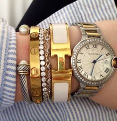 Cartier Love Bracelet with Cartier Watch