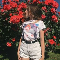 cute unique vintage t shirt Art Hoe Fashion, Grunge Fashion, Look Fashion, 90s Fashion, Fashion Outfits, Pretty Outfits, Cute Outfits, Foto Casual, Girls Rules