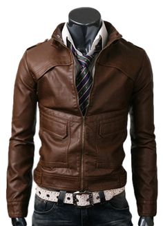 $99.00 - Wearing this light brown jacket is your chance to hold your head high to world! This jacket is extremely stylish and fashionable and is designed keeping in view the latest fashion trend. Comes onboard as an amalgamation of world's highest grade Cowhide / Lambskin leather and brilliance of the craftsmanship, slim style strapped leather jacket is going to be one of the extremely stylish dressing options in your wardrobe.