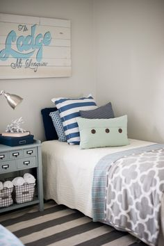 Guest Room Inspiration | DIY Playbooks Home Tour from Gina Cristine Read more - http://www.stylemepretty.com/living/2013/09/16/diy-playbooks-home-tour-from-gina-cristine/