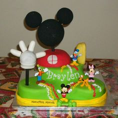 Mickey Mouse Clubhouse cake!  #cake #mickeymouseclubhouse #mickeymouse