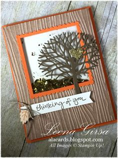 A La Cards: A Thoughtful Shaker - SU - Thoughtful Branches, Sheltering Tree - Fall, autumn