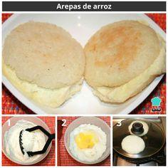 Arepas de arroz#RecetasGratis #RecetasFáciles #RecetasRápidas #Arepas #Venezuela